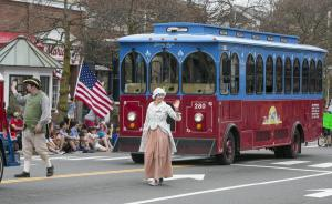 Trolley in parade