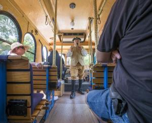Inside liberty Ride trolley