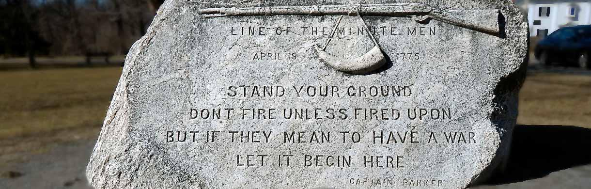 Stand your ground stone
